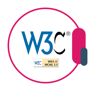W3C (who are the moderators of the web content accessibility guidelines) logo